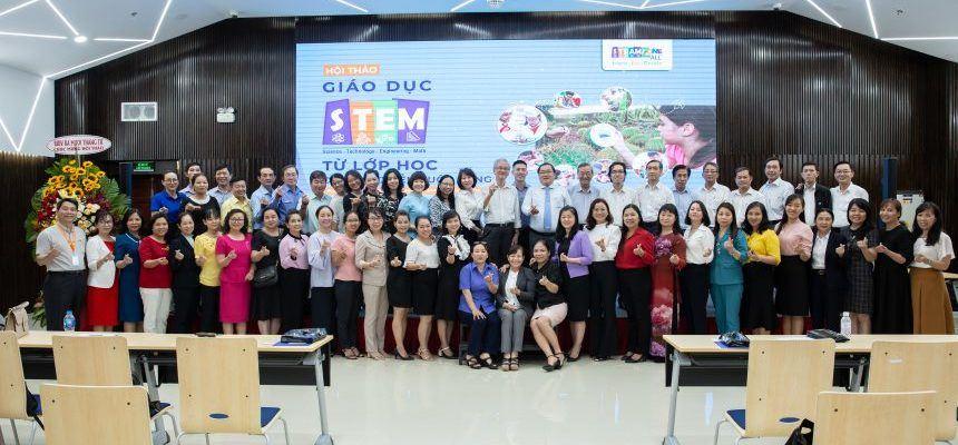 """(Tiếng Việt) chương trình hội thảo giáo dục STEM """"Từ lớp học đến thực tiễn cuộc sống""""  Quận 3"""