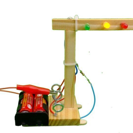 Bộ lắp ghép cột đèn giao thông Stem DIY