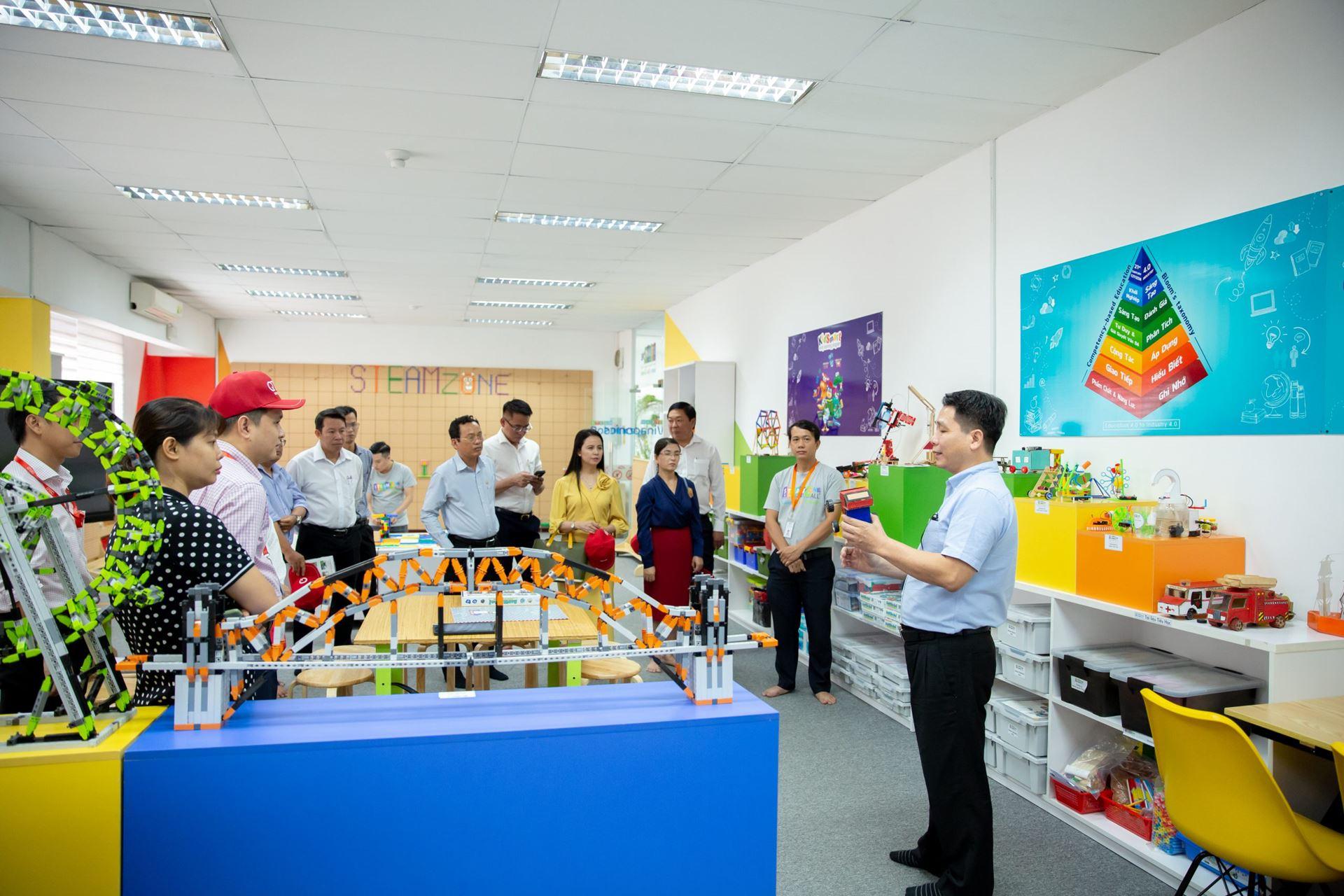 Đoàn tham quan phòng Robotics